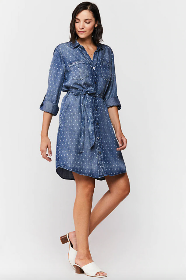 Anita Roll Tab Sleeve Dress