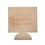 Happy Hour Leather Beverage Coozie