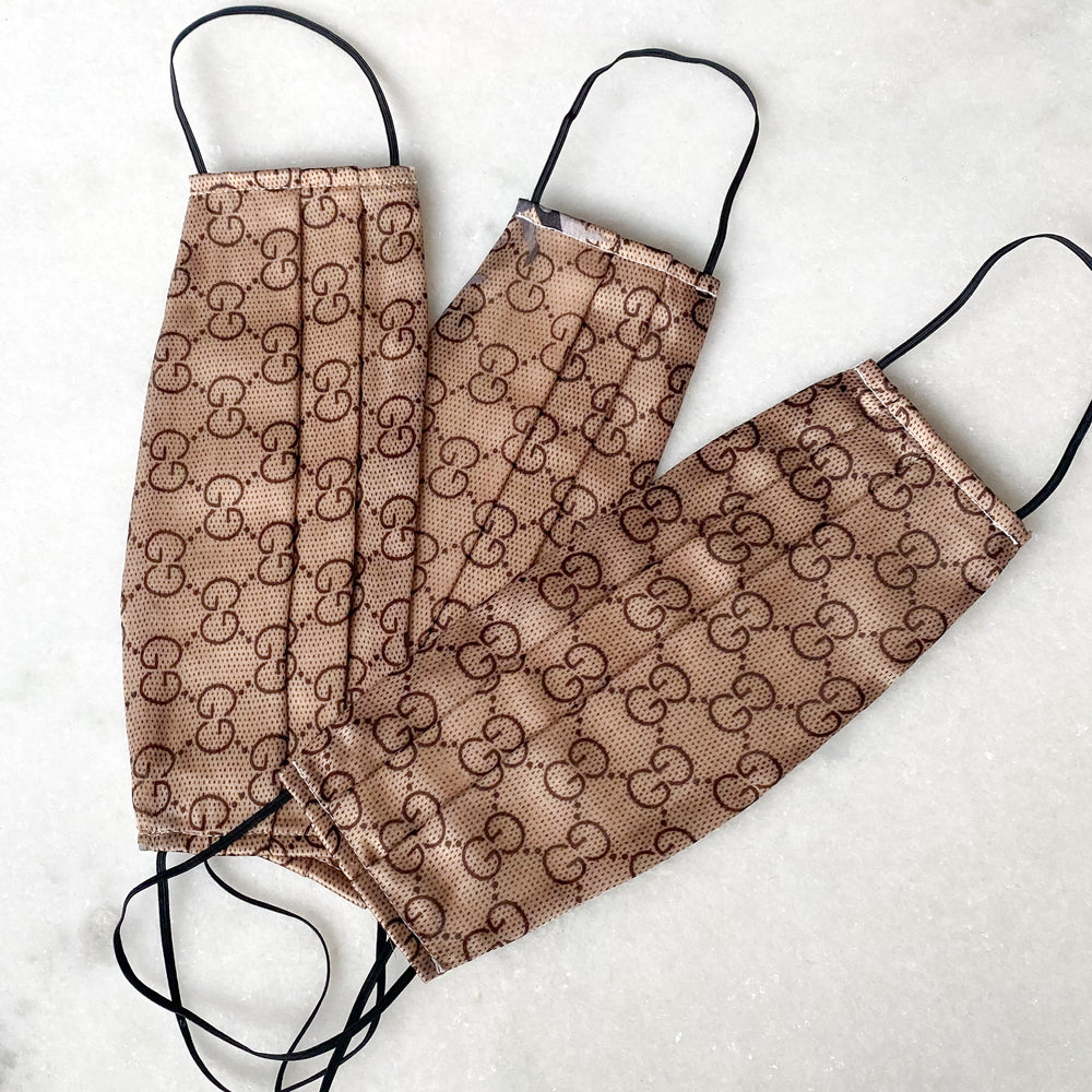 Gucci Brown Scarf Mask