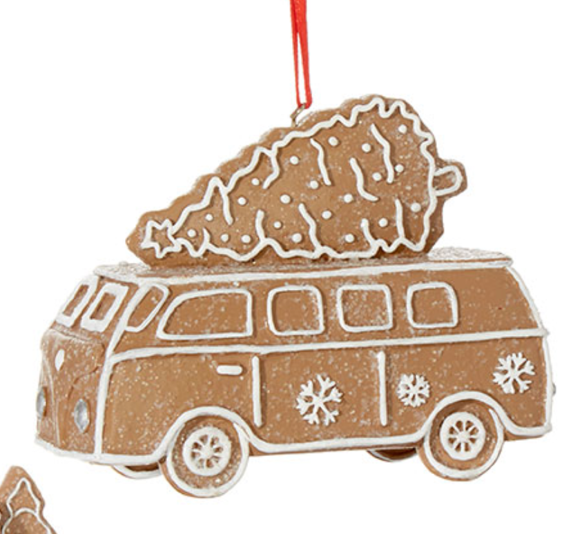 Gingerbread Van Ornament
