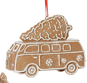 Load image into Gallery viewer, Gingerbread Van Ornament