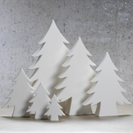 White Ceramic Tree - 6.25""