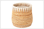 "Load image into Gallery viewer, 16"" Abaca White Cord Basket"