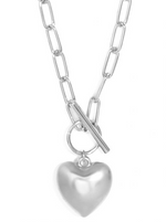 Chain + Heart Pendant Necklace