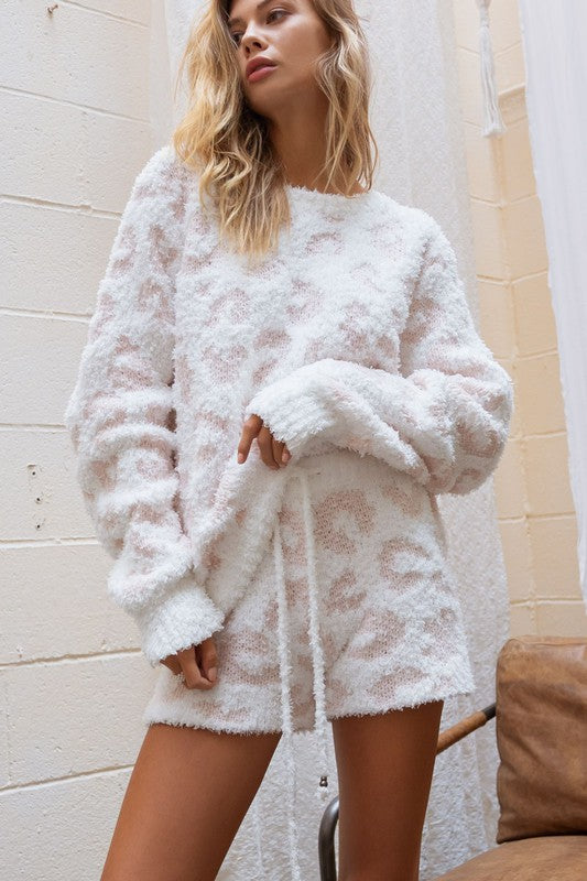 Cozy It Up Leopard Crew Neck Sweater