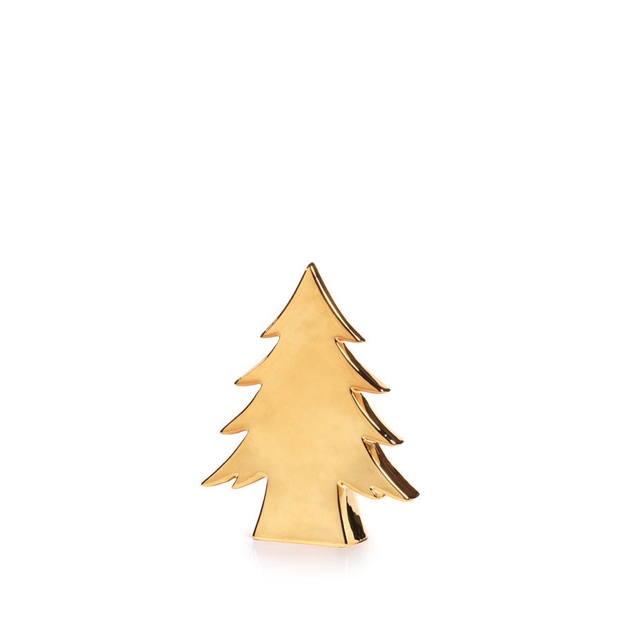 Gold Ceramic Tree - 8.25""