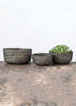 Lindi Handwoven Grass Baskets