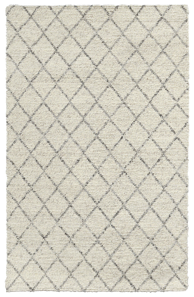 Load image into Gallery viewer, Ivory Diamond Looped Rug