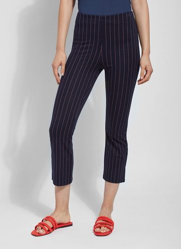 Crop Flare Striped Pants
