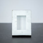 "Marble Mini Rectangle Frame with Gold Detail 3.5""x2.75"""