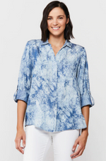Rylee Rolled Tab Sleeve Top