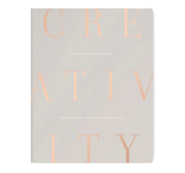 Gray Creativity Notebook