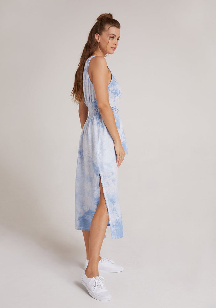 Blue Tie Front Midi Dress by Bella Dahl