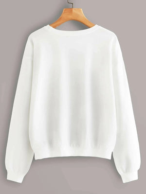 Easy Tiger Sweatshirt - White with Tan