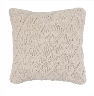 Load image into Gallery viewer, Cream Hand Knit Pillow