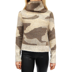 Chunky Turtleneck Knit Sweater