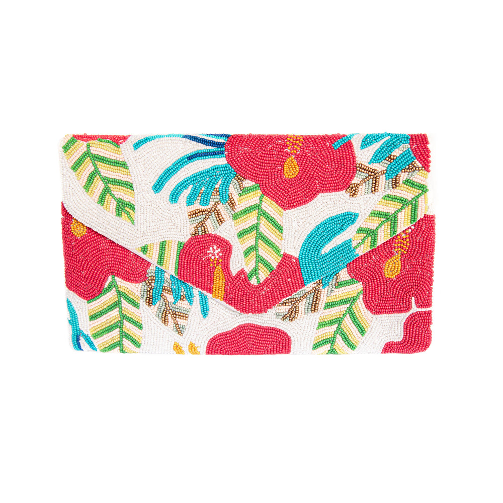 Load image into Gallery viewer, Tropical Flower Crossbody/Clutch