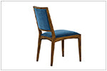 Azure Blue Velvet Dining Chair