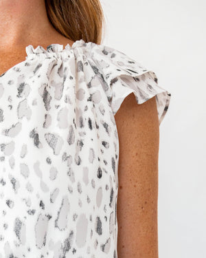 Load image into Gallery viewer, Mini Print Ruffle Dress