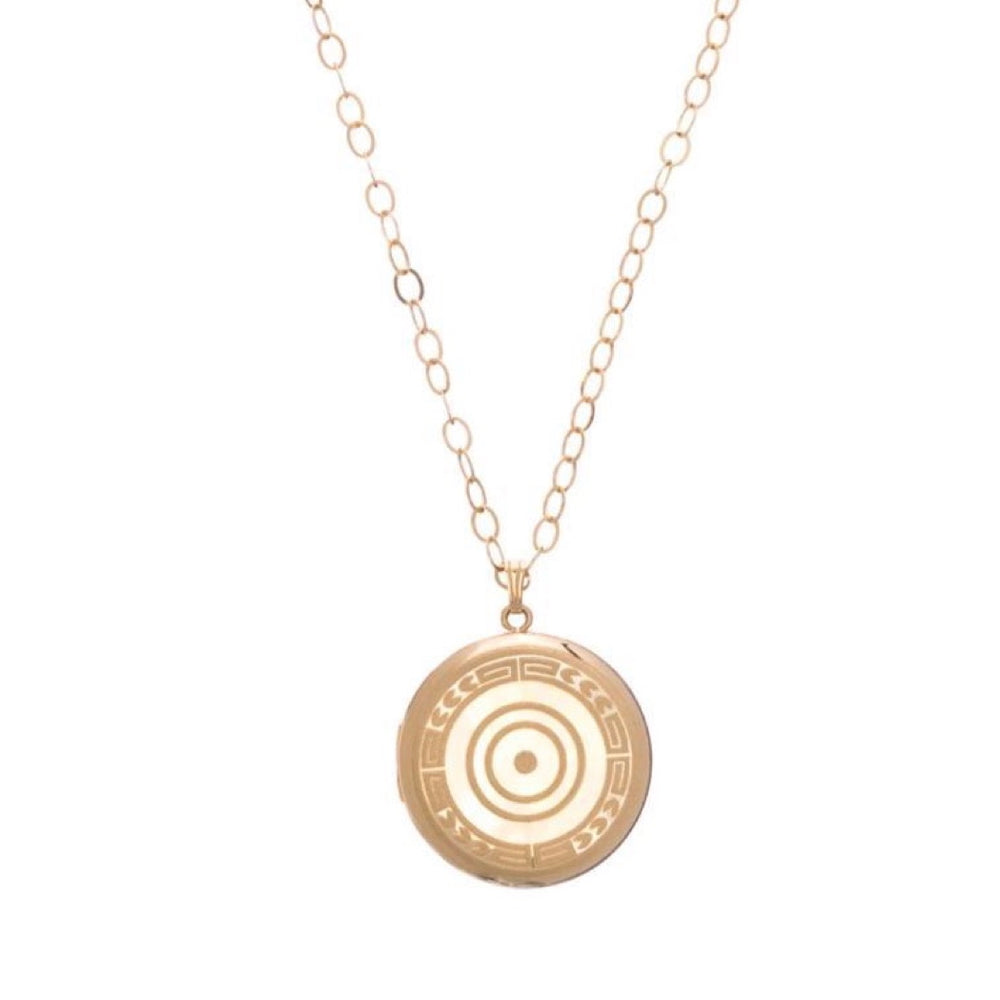 14k Gold Filled Locket Necklace 16""