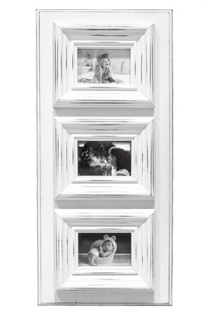 Chunky Frame in White | Three 5x7s