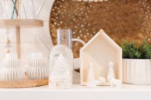 Load image into Gallery viewer, Wood & Ceramic Nativity Set