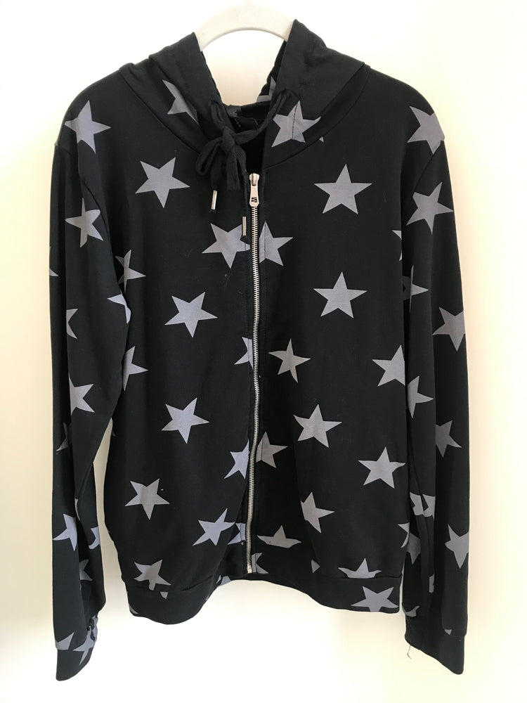 All Over Stars Printed Zip Up Jacket