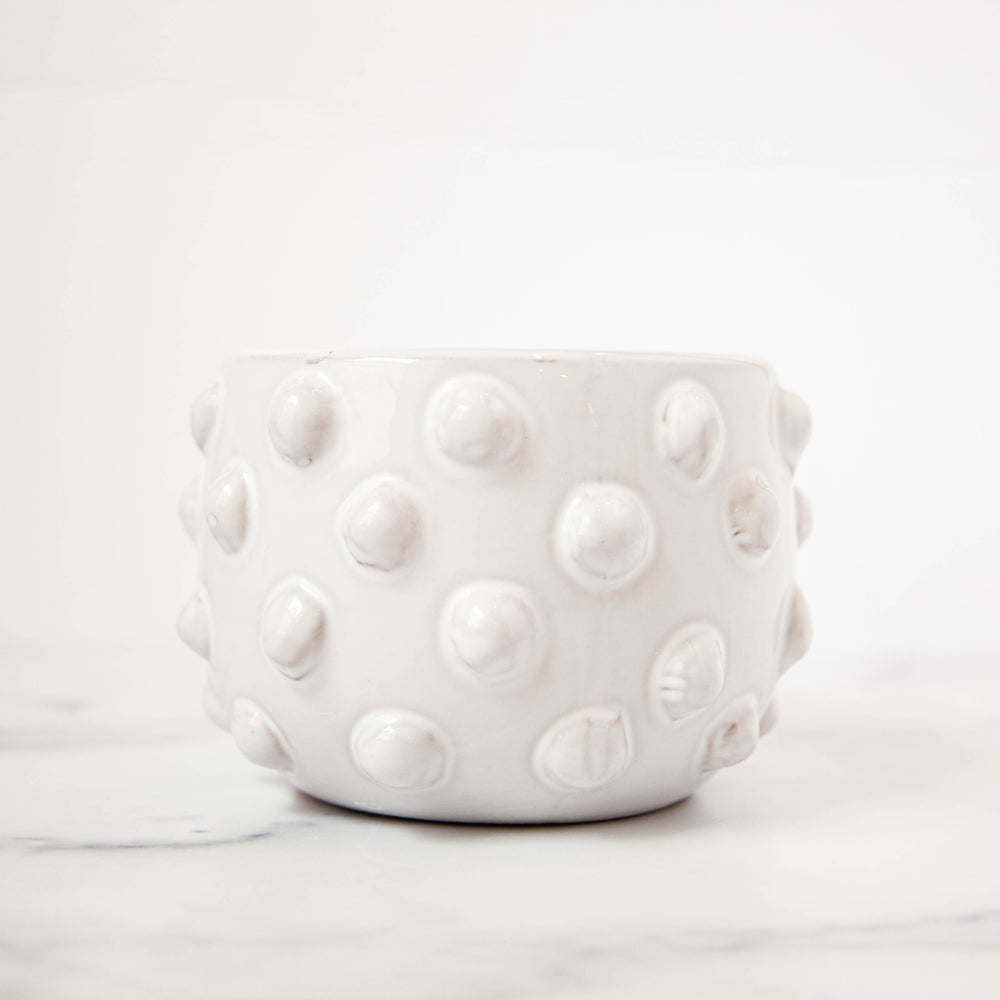 Raised Dots White Planter