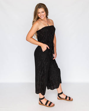 Coulottes Romper in Black