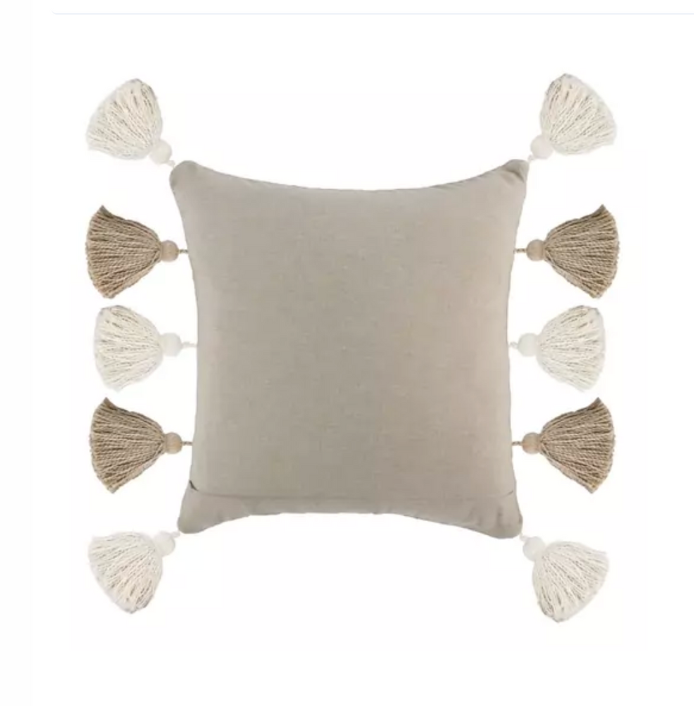 Natural Ivory Pillow with Tassels