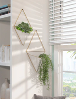 White Metal Hanging Planter