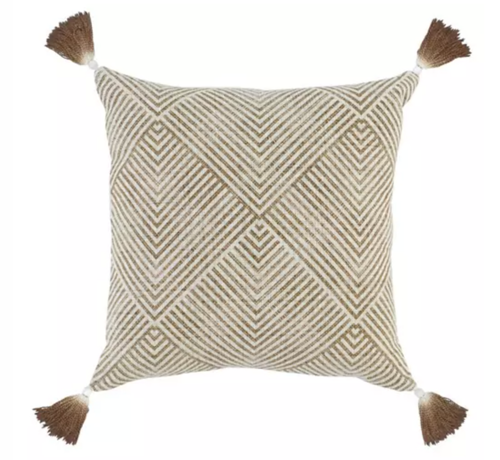 Toffee Tassel Pillow