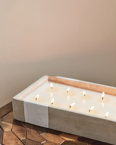 Load image into Gallery viewer, Concrete Rectangle Candle | Tobacco Patchouli