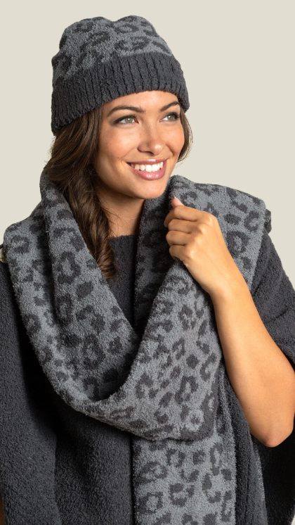 Cozy Chic In The Wild Beanie Scarf Set