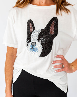 Sequin French Bulldog Tee