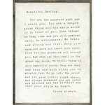 Letter for Sophie Art Print