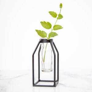 Small Tube Vase with Stand