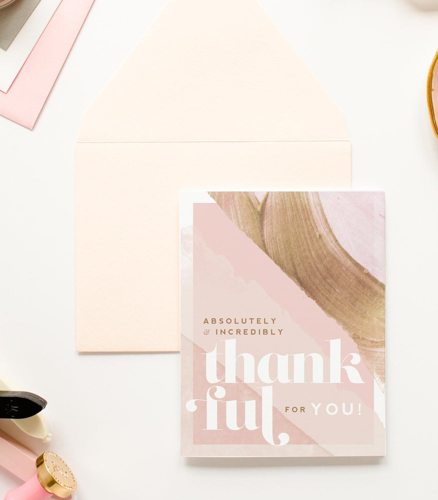Thankful for You Greeting Card