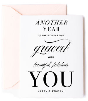 Another Year of the World Being Graced Greeting Card