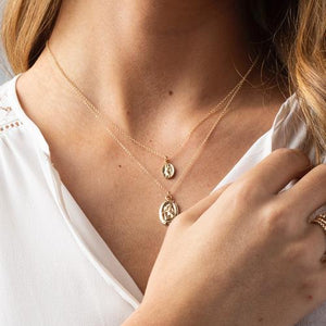 Protection Small Gold Charm Necklace