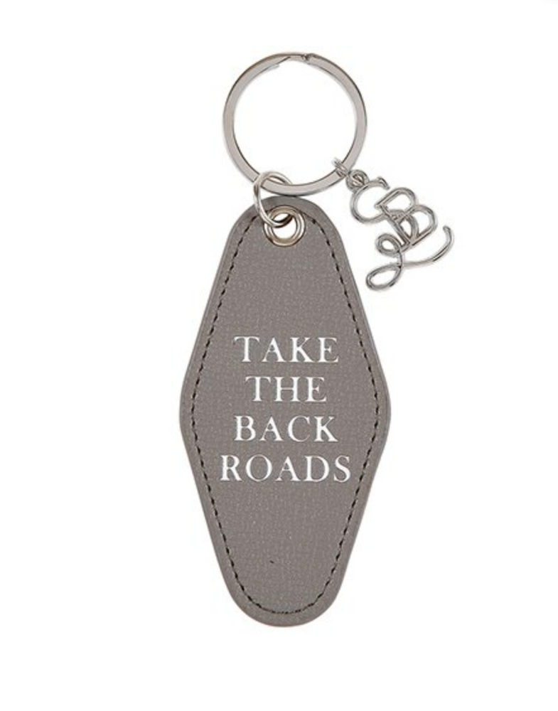 Leather Key Tag - Back Roads