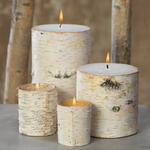 Large Birchwood Fragrance Free Pillar Candle
