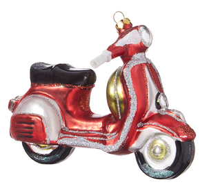 Red Vespa Ornament