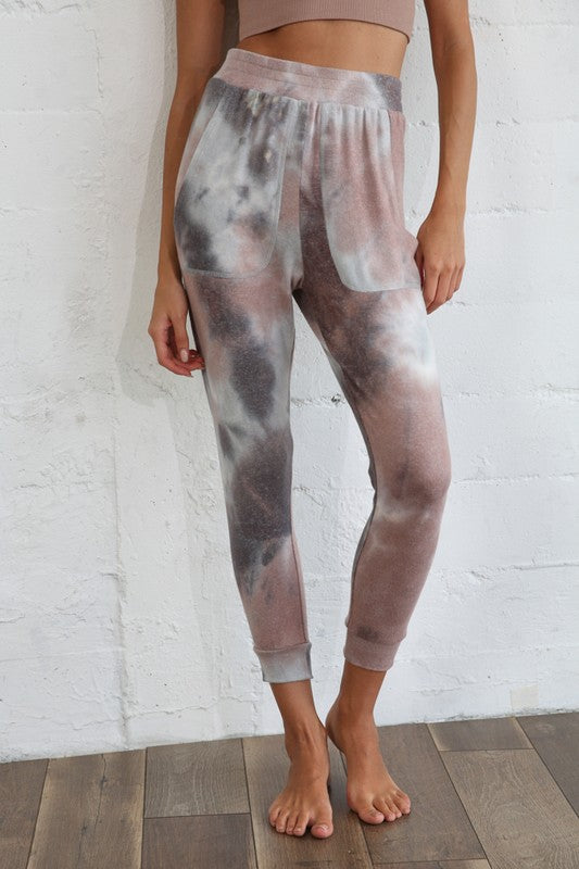 Knit Brushed French Terry Tie Dye Jogger