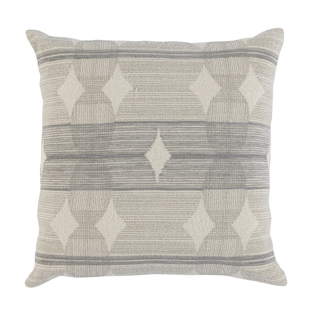 Ezra Grey Cotton & Linen Pillow