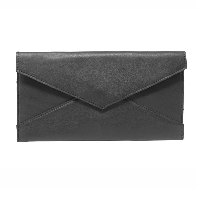 Remy Leather Envelope Clutch