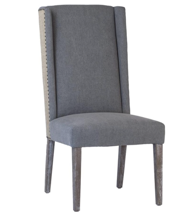 Two Tone Linen Dining Chair