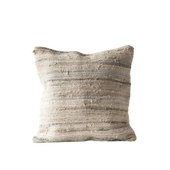 Load image into Gallery viewer, Cotton Canvas Chindi Pillow