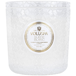 Suede Blanc Luxe Candle 30oz