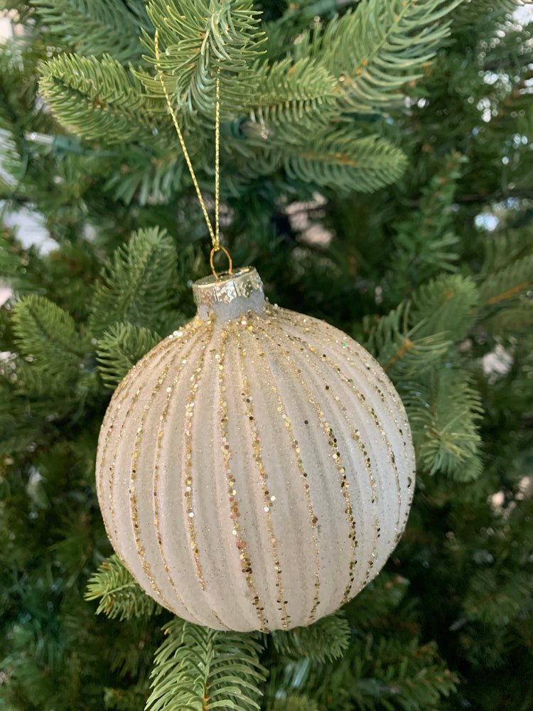 Round Fluted Glass Ornament